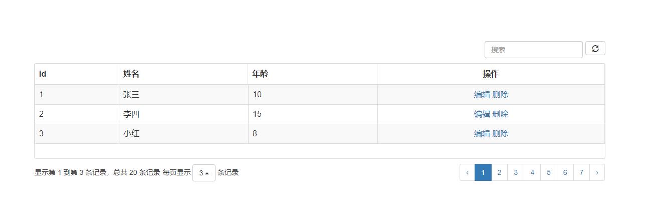 基于SSM+bootstrap实现用户信息分页显示C5017